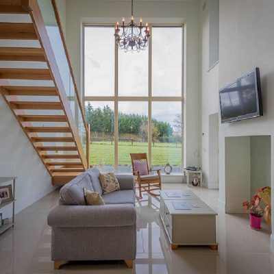 Open Plan Living Room - contemporary Irish Home - designed by mckenna + associates Architects & Building Surveyors Trim Co Meath. Architects Meath. Architects Trim. Registered Architects Meath.